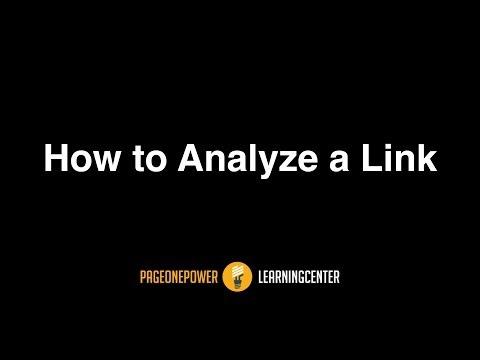 How to Analyze a Link