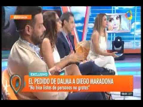 Se filtró un audio de Dalma Maradona a Diego por el ...