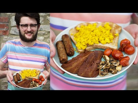 WHAT MY VEGAN BOYFRIEND EATS IN A DAY | FRY UP & MAC 'N' CHEESE