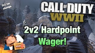 CoD WWII - 2v2 Hardpoint WAGER?! 2v2 UMG HP on Ardennes Forest (ww2 umg wager hp)