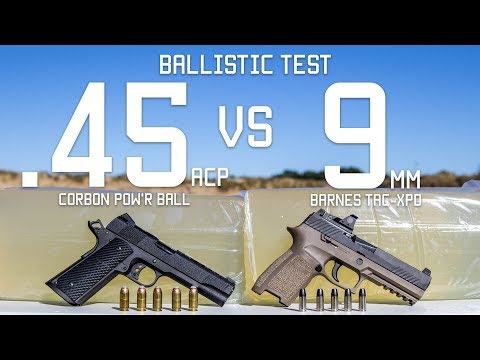 .45cal Vs 9mm Ballistic Test  Ammo Comparison  Tactical Rifleman