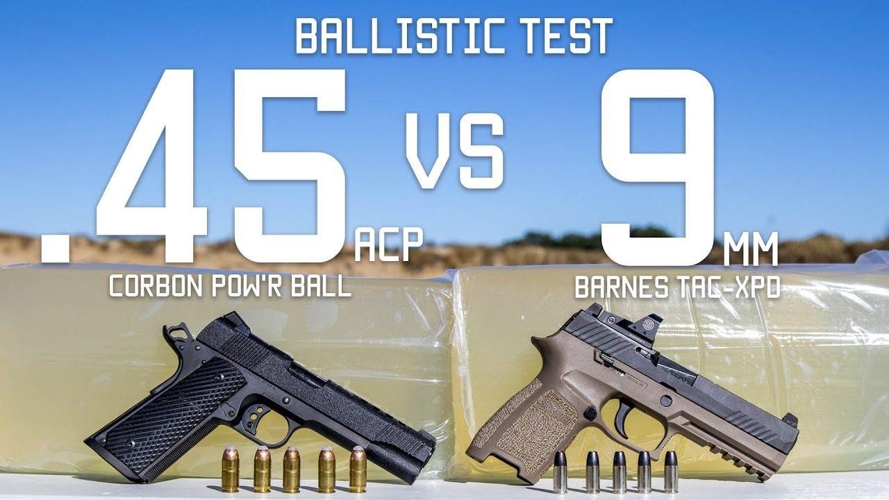 45cal Vs 9mm Ballistic Test | Ammo Comparison | Tactical Rifleman