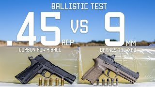 .45cal Vs 9mm Ballistic Test | Ammo Comparison | Tactical Rifleman