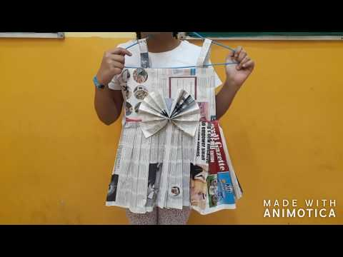 How to make paper dress/ best out of waste