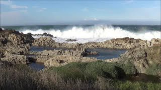 Stormy ocean waves video with rough surf and strong wind - natural wave sounds - HD 1080P