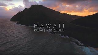 Aerial Views by Drone of Kauai and Honolulu, Hawaii