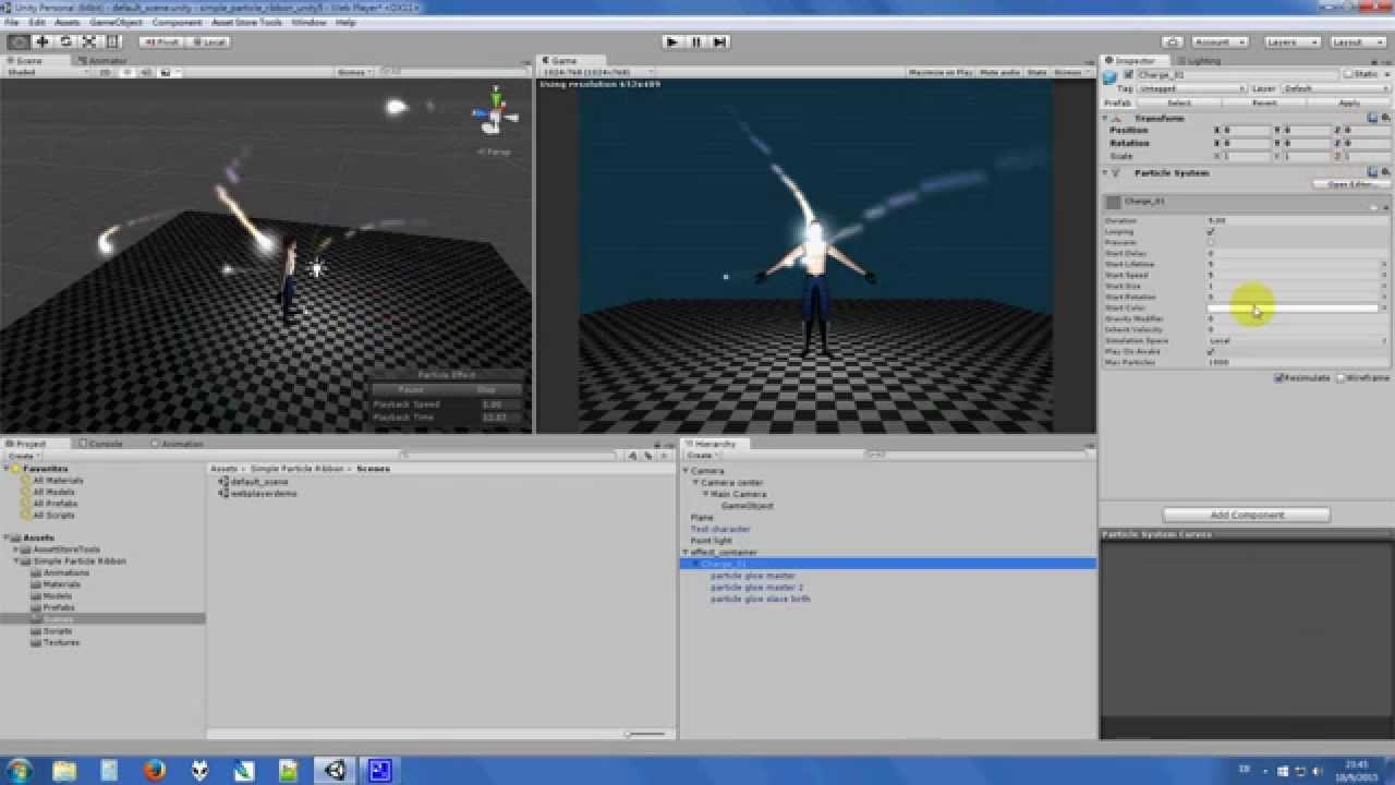 Simple Particle Ribbon v1 01 tips (Unity 5 2)
