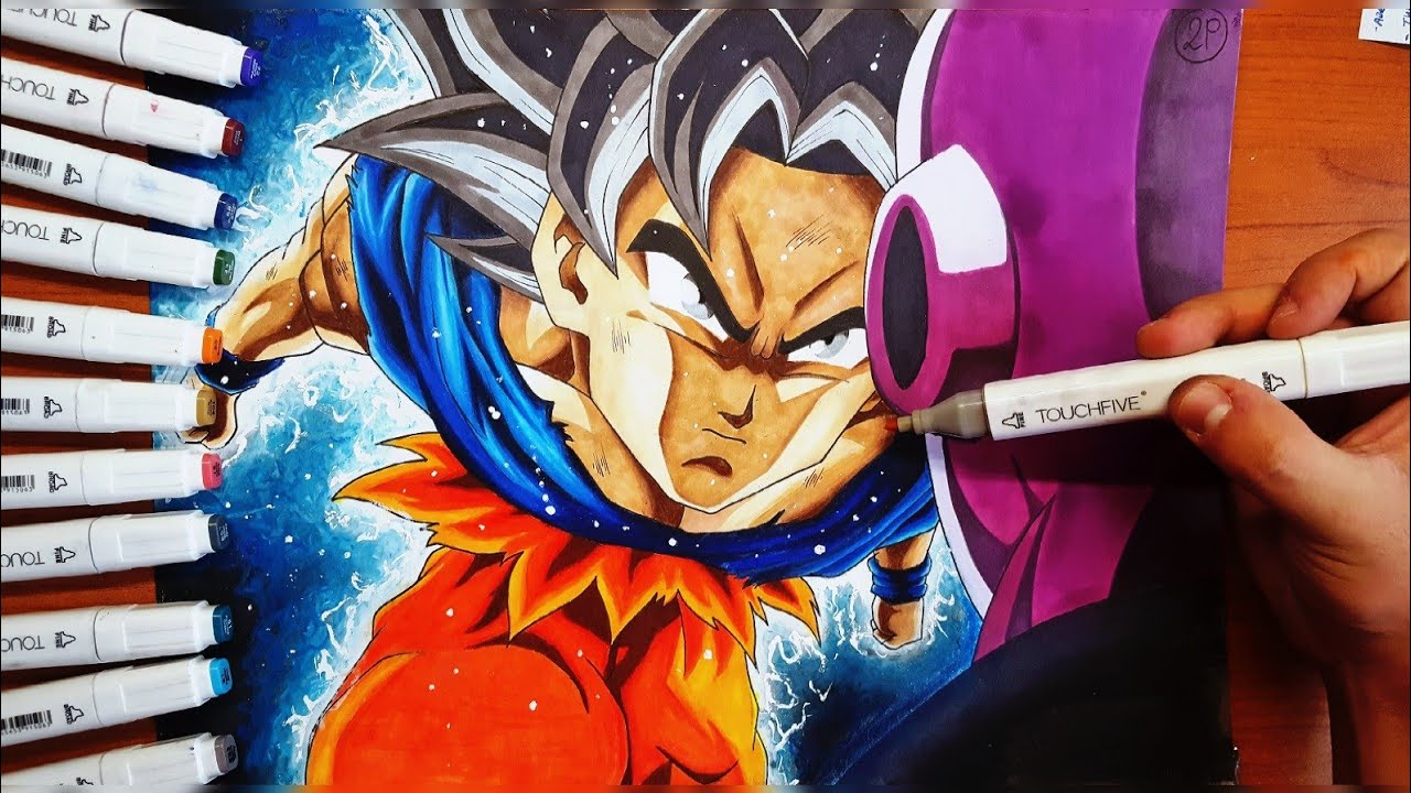 Disegno Goku Ultra Instinct Vs Jiren Dragon Ball Super Youtube