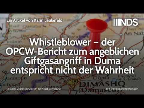Whistleblower – OPCW-Bericht zum angeblichen Giftgasangriff in Duma entspricht nicht der Wahrheit