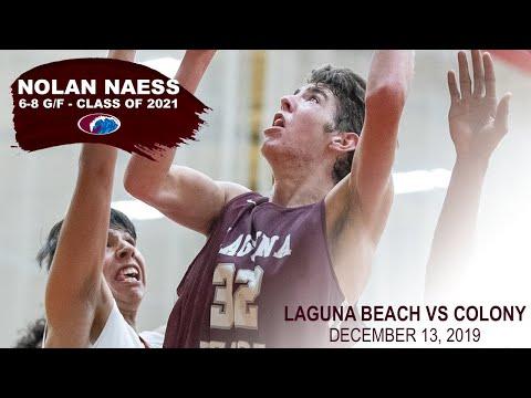 NOLAN NAESS '21 - Laguna Beach HS Vs Colony HS