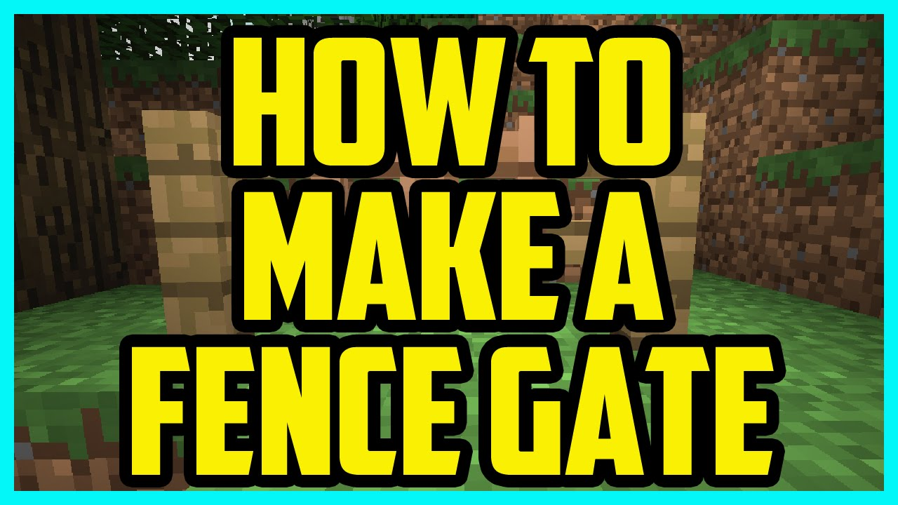 How To Make A Fence Gate In Minecraft 1 9 4 2016 PC (QUICK & EASY) -  Minecraft PC Tutorial