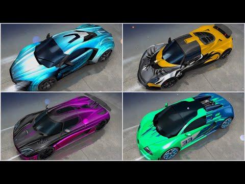 Asphalt 8, WST, Hennessey Venom, Koenigsegg Agera, Lykan HyperSport & Bugatti Grand Sport Vitesse