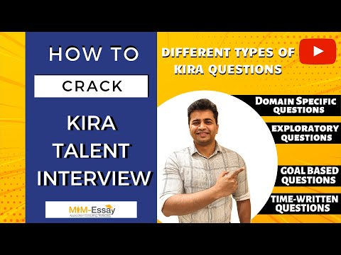 How To Crack Kira Talent Interview Session 3 | MiM-Essay
