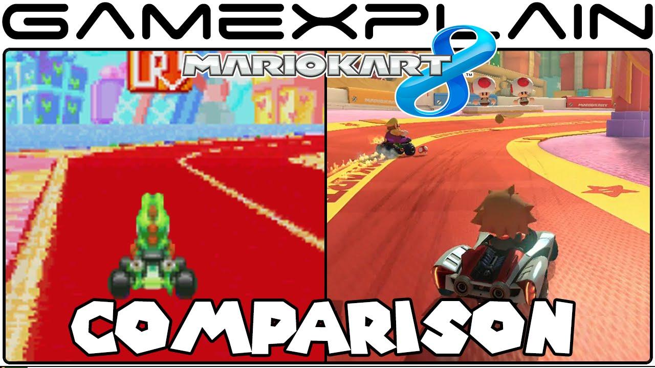 Mario Kart 8 Ribbon Road Gba Head To Head Comparison Wii U Vs Gba