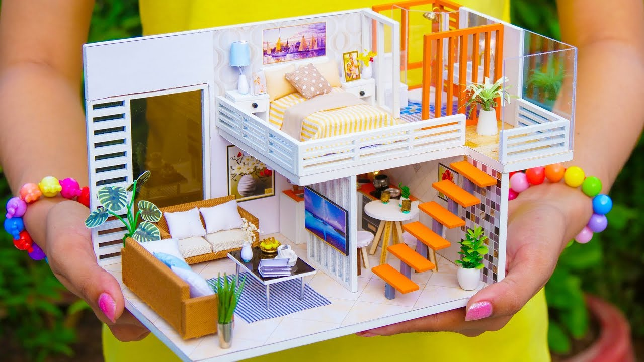 4 Diy Miniature Dollhouse Rooms Youtube