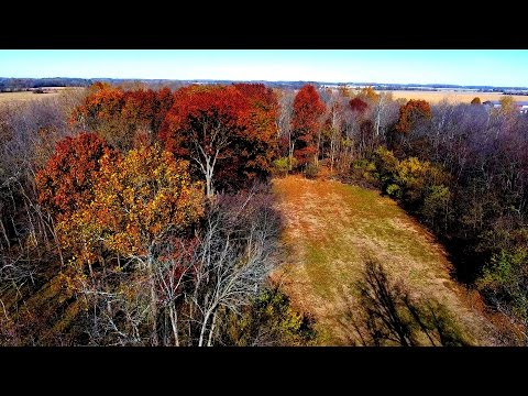 """Drone Flight Along the Ditch at Avery, Indiana  """"Wings of an Angel"""" by Russell Kaspar"""