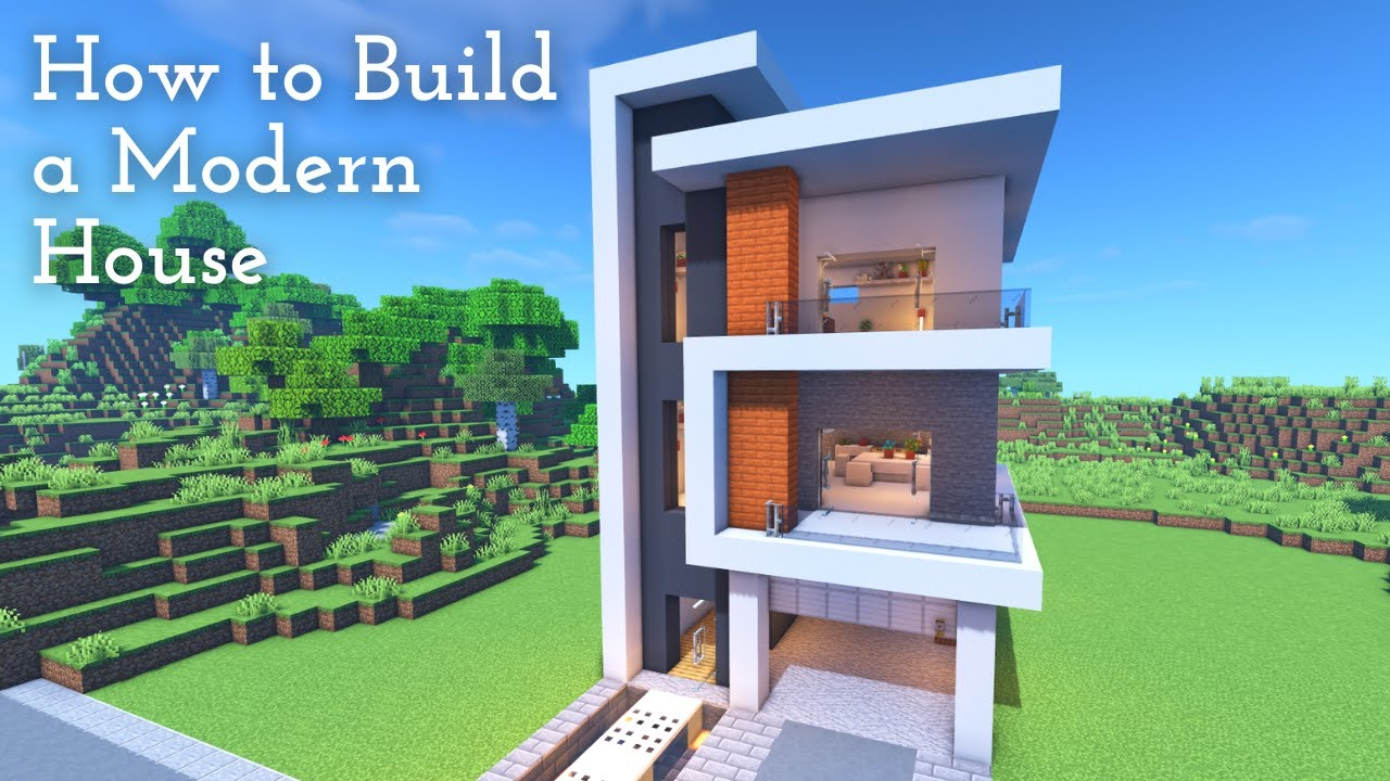 [Minecraft]  How To Build A Modern House