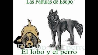 073 El lobo y el perro dormido