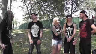 Love and Death Interview with Tat2 Magazine 2013 at Aftershock Festival