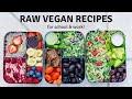 RAW VEGAN MEAL IDEAS 🥑 healthy + easy recipes!