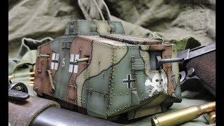 Vintage 1/35th scale Tauro WWI German A7V tank