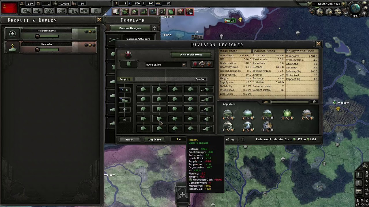 Hearts of Iron 4 - Mass Assault Template Guide