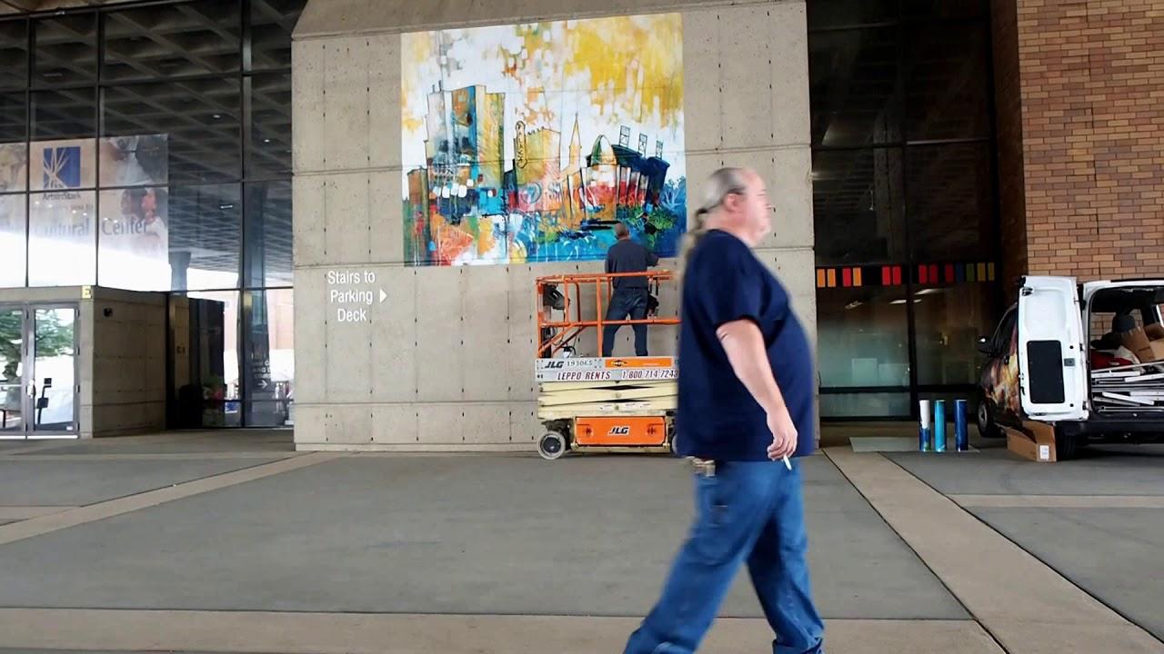 Canton Art Museum Wall Graphics Installation