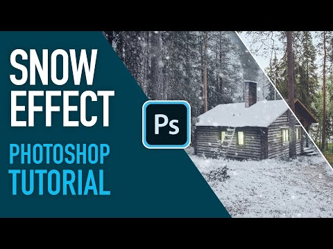 How To Create And Add Snow InPhotoshop2020