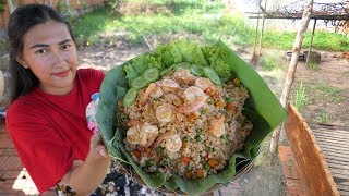 Yummy cooking fried rice with shrimp recipe - Cooking with Rany