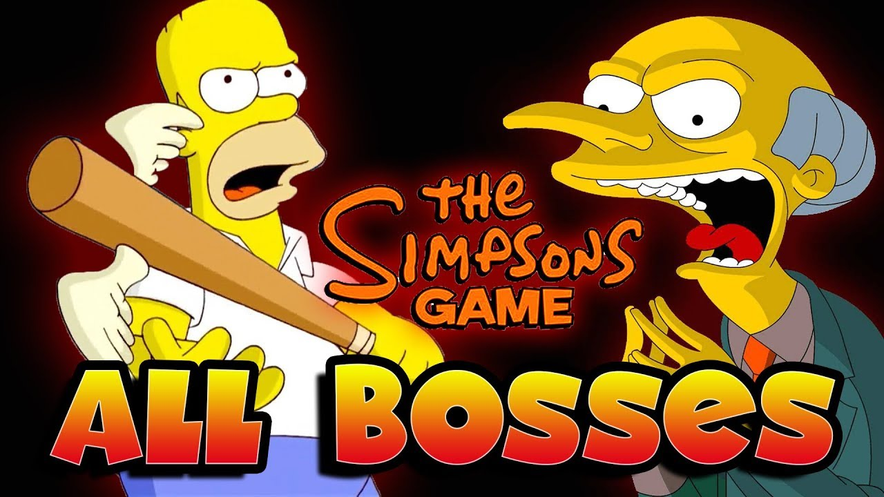Download The Simpsons All Bosses | Boss Fights  (X360, PS3)