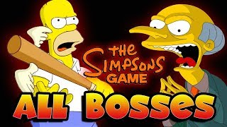 The Simpsons Game All Bosses (X360, PS3, PS2, Wii, PSP)