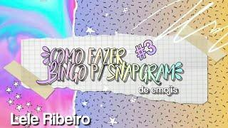 °Como Fazer Bingo para SnapGram (com Emojis) #3°