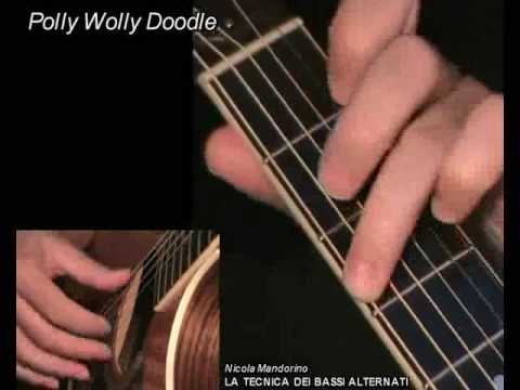 Polly Wolly Doodle - fingerpicking + TAB! Learn to play, guitar lesson