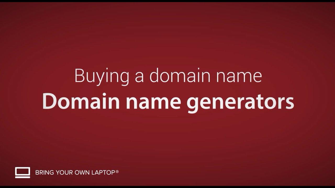 Domain name generator - Buying a domain name [5/9]