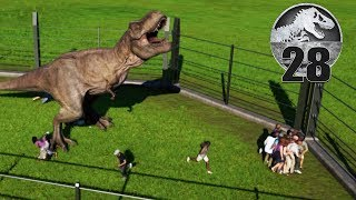 T-REX vs ALL PARK GUESTS - Jurassic World Evolution - Part 28
