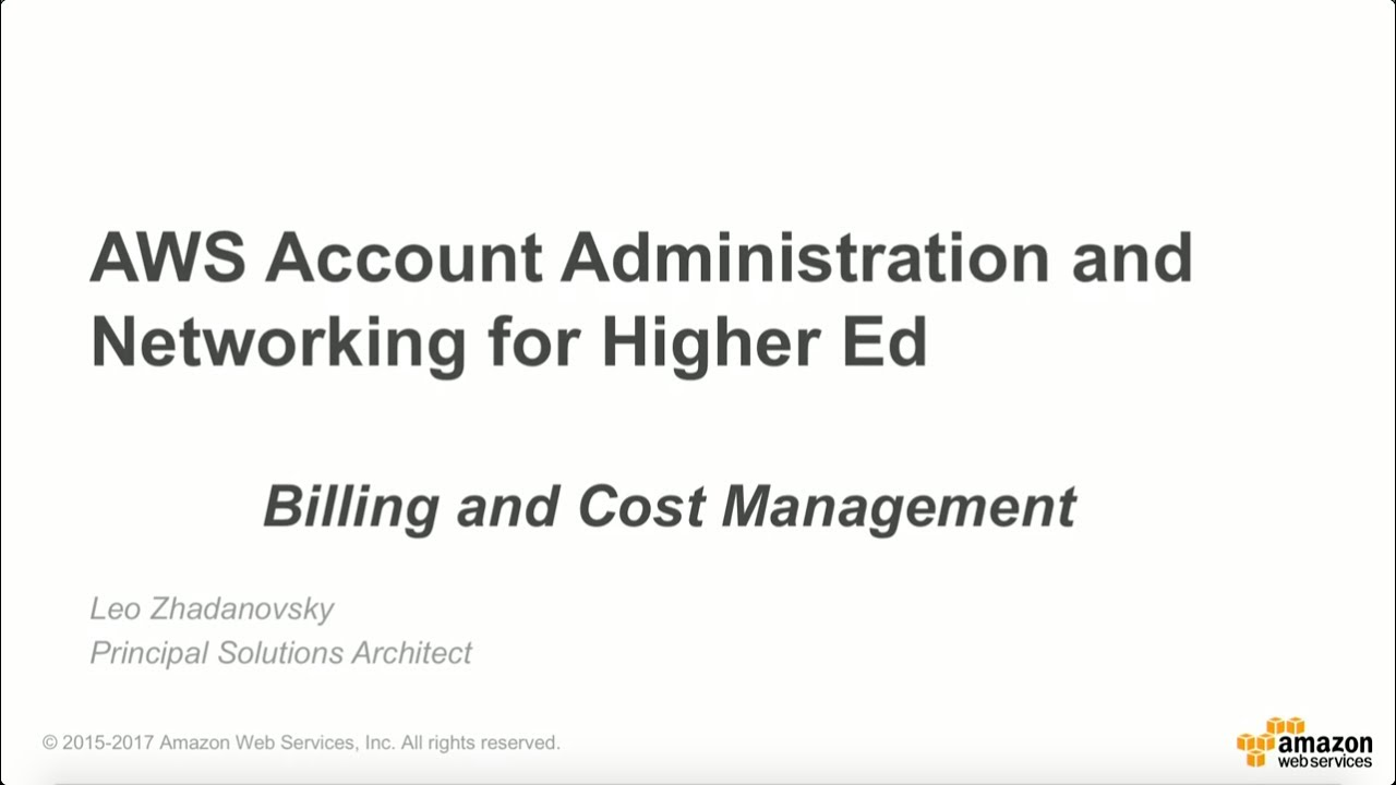 AWS Billing and Cost Management for Education