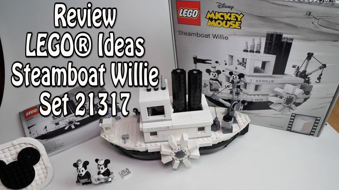 Review Lego Steamboat Willie Ideas Set 21317 Youtube