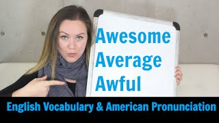3 Words You Need to Know in American English - Learn Pronunciation & Vocabulary