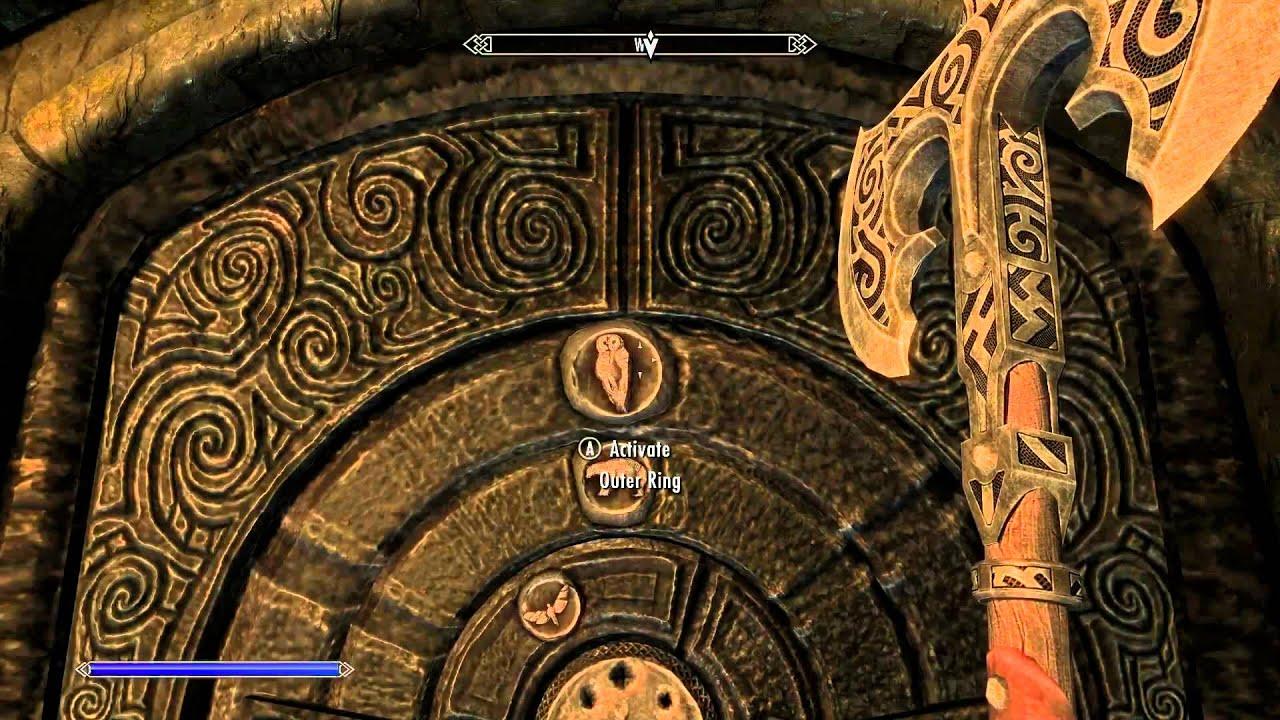 golden dragon claw puzzle skyrim saarthal