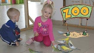 Детский контактный зоопарк в Москве. Кормим животных и птиц. Children's zoo feed animals.