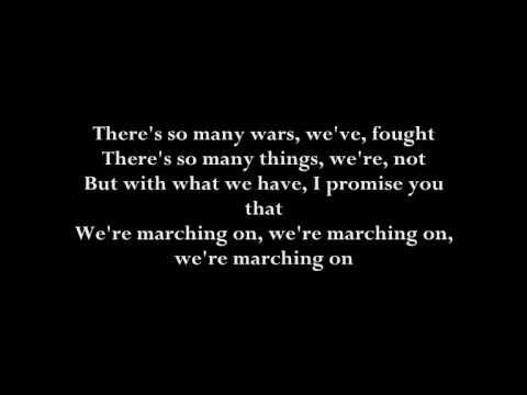 Timbaland & One Republic - marching on [with original lyrics]