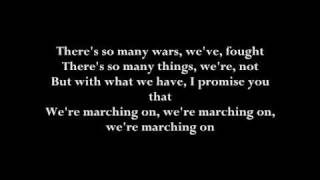 Timbaland & One Republic - marching on [with original lyrics]