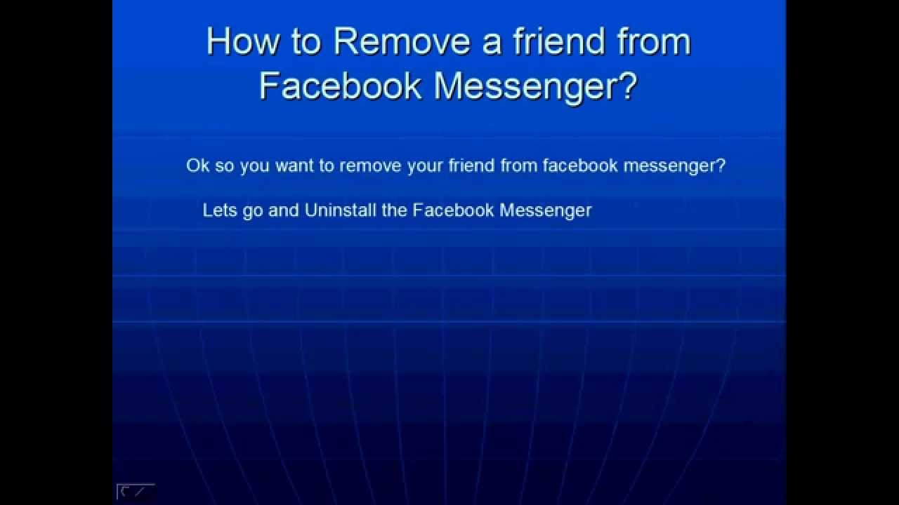 How to remove a Facebook friend from Facebook Messenger