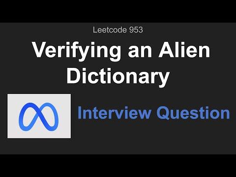 Verifying an Alien Dictionary - LeetCode Articles