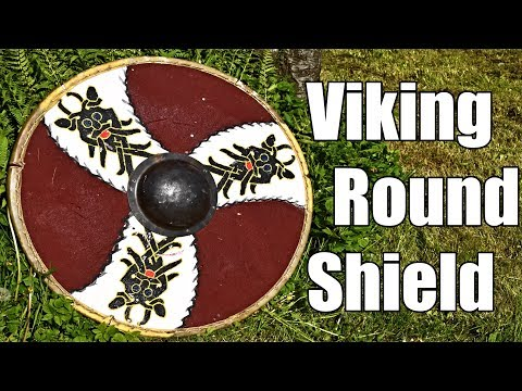 Woodworking, Blacksmithing and Leatherworking - Making Viking Round Shield and Testing it