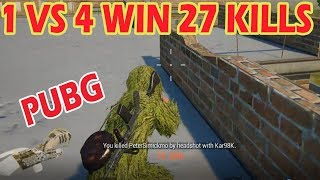 PUBG MOBILE | 27 KILLS WIN | 1 MAN SQUAD | 27 Kills Solo VS Squad
