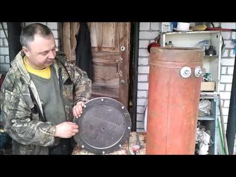 Коптильня мангал из газовых баллонов своими руками