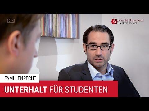 Unterhalt für Studenten: Wer zahlt das Studium? - Kanzlei Hasselbach