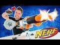 NERF WAR WITH REAL GRENADES! 😱