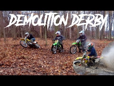 PIT BIKE DEMOLITION DERBY!!!